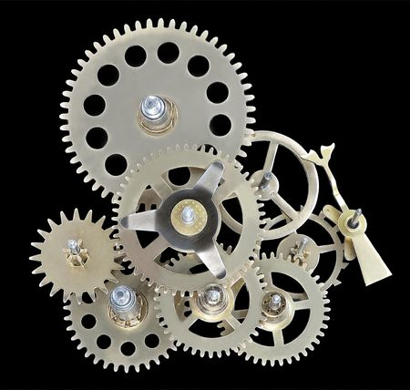 Closeup of gears from clock works. Stock Photo - 5135862
