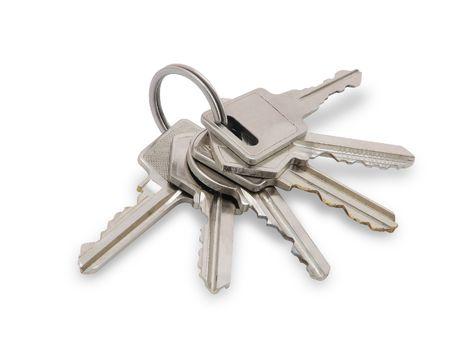 Keys, isolated on white background.