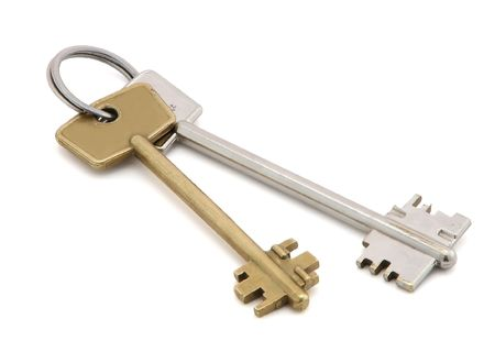 Keys, isolated on the white background. photo
