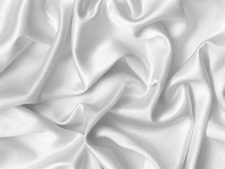 foglio bianco: Elegante pieghe di seta bianca.