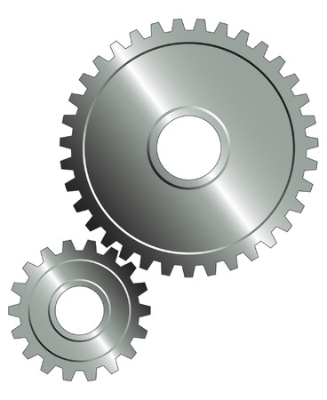 gear motion:  Gear set on the white background. Illustration