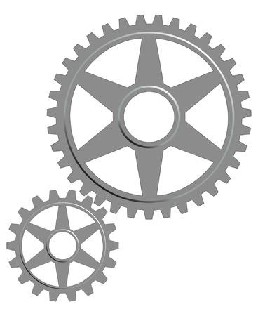 maschinenteile:  Gear legen Sie auf dem wei�en Hintergrund.