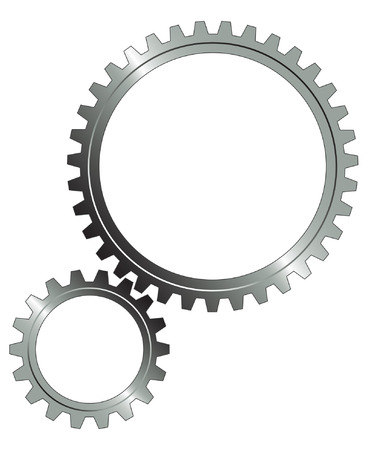 Gear set on the white background. Vector