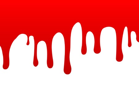 A stream of blood on the vertical surface. Vector