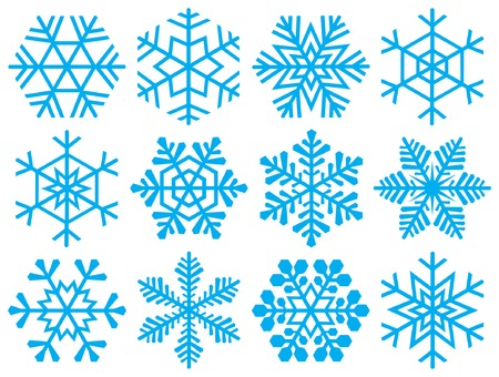 ice crystals:  Various snowflakes for your design projects.
