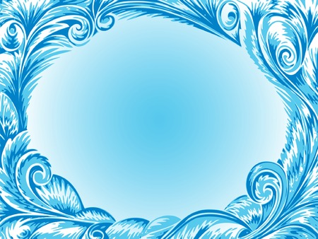 Decorative frame and snowflakes background for your projects. Vector