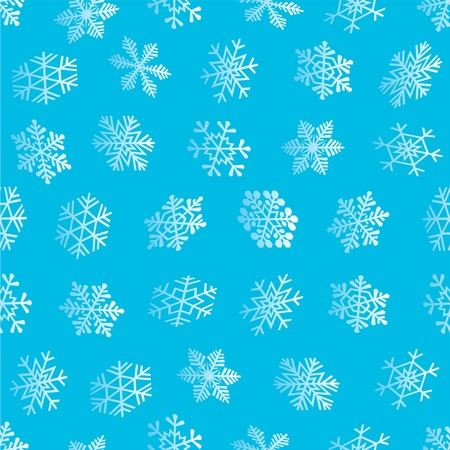 Seamless snowflakes background. Vector