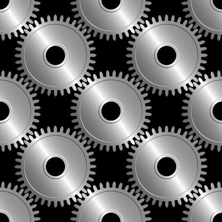 revolve: Seamless vector wallpaper of interworking gears.