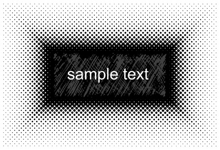 doted: Vector halftone background for sample text. Illustration