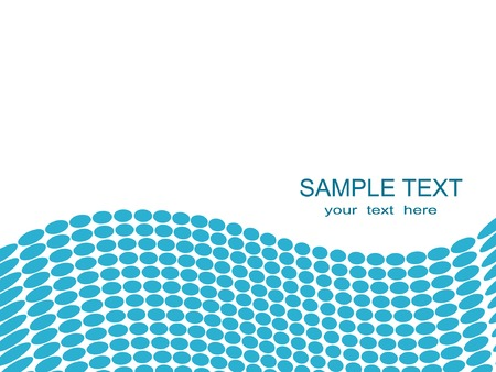 Vector background with blue circles forming a wave. Vector