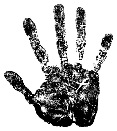 Vector image of hand print. Vector