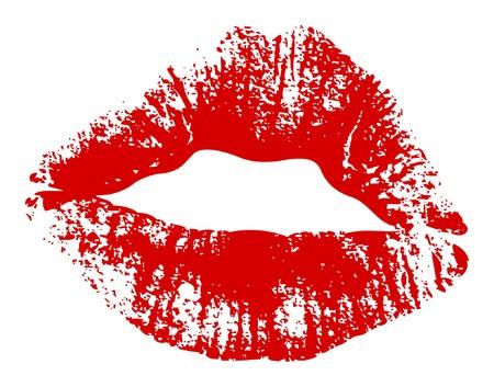 Vector of kiss print.