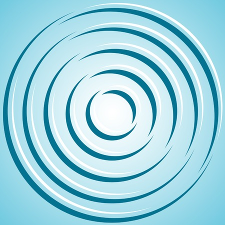 Abstract concentric circles on the blue background.