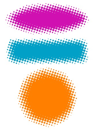 Vector halftone banners for your design projects. Vector