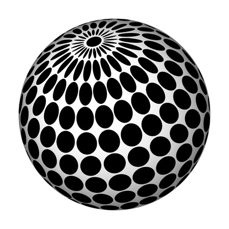 perforation: Abstract sphere with elliptic perforation.