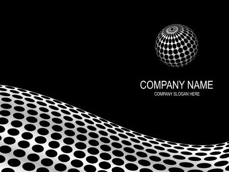 gaten: Abstracte bedrijf pagina met het logo ruimte.