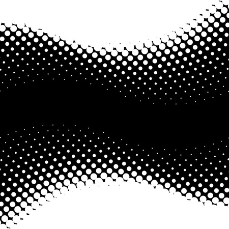 Vector halftone background with the space for text. Vector