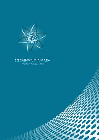owalne: Abstrakcyjna firmy strony z logo miejsca.