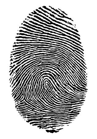 Formato vectorial de la huella dactilar. Ilustración de vector