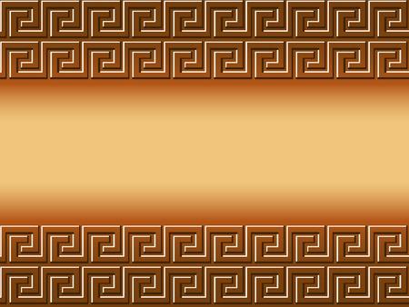 mythologie: Vector Background der griechischen Elemente mit dem Raum f�r Text.