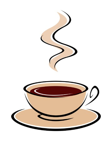 coffee cup vector: Vector illustration of hot coffee cup.
