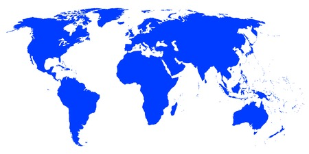 Detailed world map for your projects. Vector