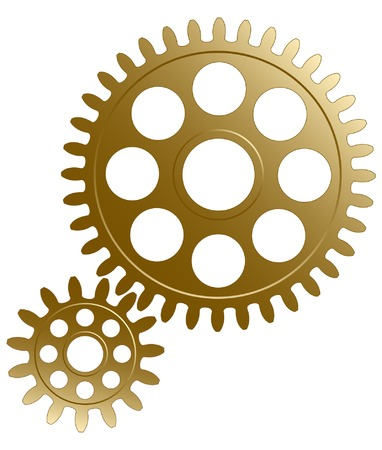 gearings:  Gear set on the white background. Illustration