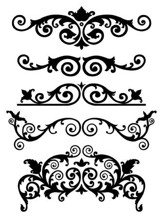 Vector ornament in monogram style. Illustration