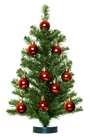 Christmas Tree isolated on the white background.