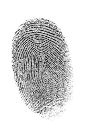 Finger print isolated on the white background. Archivio Fotografico