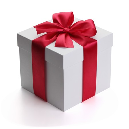 Gift with ribbon and bow photo