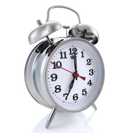 Alarm clock, geïsoleerd op de witte achtergrond