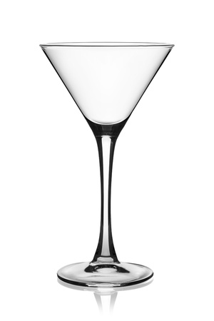 Empty martini glass isolated on the white background Stock Photo