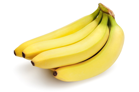 Bananas isolated on the white background,