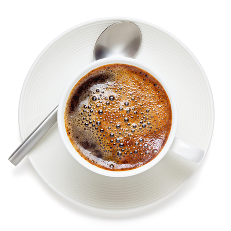 Cup of coffee, isolated on the white background