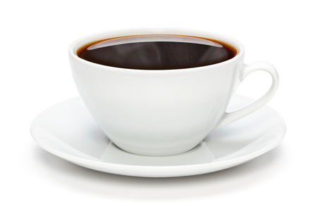 Cup of coffee, isolated on the white background, clipping path included. Archivio Fotografico