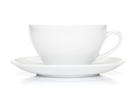 White coffee cup, isolated on the white background, clipping path included.