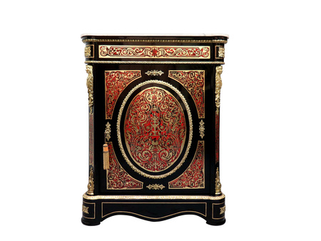 19th century Boulle Credenzas Cabinets French Sideboard inlay with red tortoise shell and brass