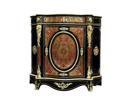 19th century Boulle Cabinets French Sideboard inlay with red tortoise shell