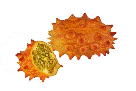 Melano, Kiwano, or Horned Melon Fruit Stock Photo