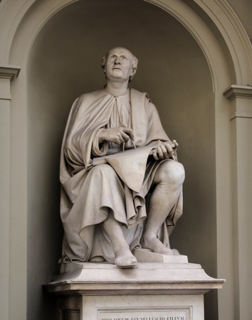 像フィリッポ ・ ブルネレスキ ルイジ ・ Pampaloni によって彼は有名なイタリアのルネサンスの建築家および彫刻家だった。 写真素材