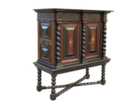 crafted: Early Baroque cabinet on stand. Cabinet made in Holland about 1670 to 1700