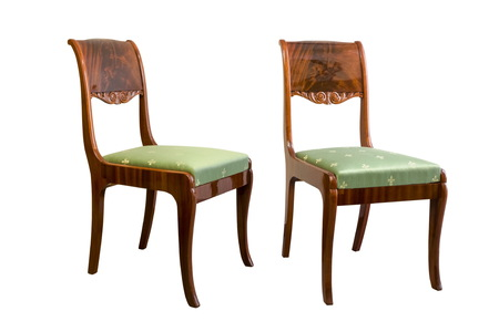 Beau Antique Biedermeier Chair With Wood Carving Stock Photo   76745808
