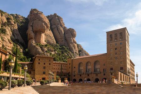 Santa Maria de Montserrat monastery, in Catalonia
