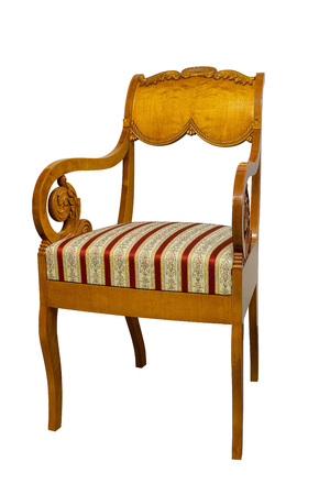 Antique Biedermeier chair with and wood carving
