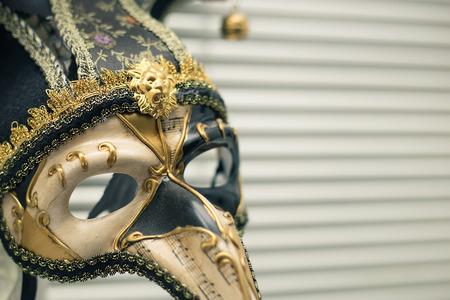 Venetian carnival mask on a white background.