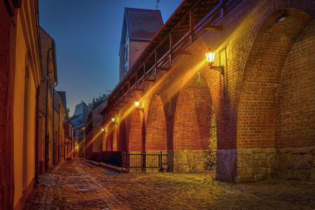 Ancient fortification wall in old Riga