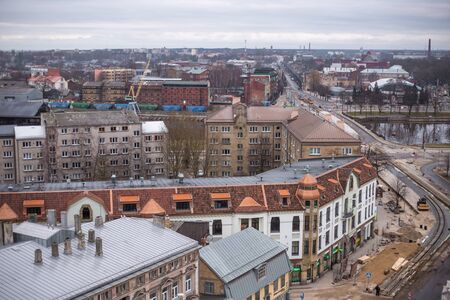 LIEPAJA, LATVIA - January, 2018: Liepaja city aerial view Editoriali