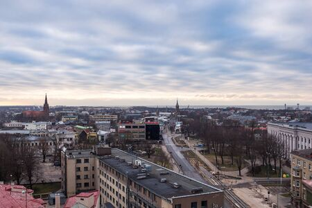 LIEPAJA, LATVIA - January, 2018: Liepaja city aerial view, Latvia. Editoriali