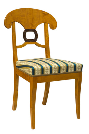 Antique Biedermeier Chair With Wood Carving Stock Photo   99804096